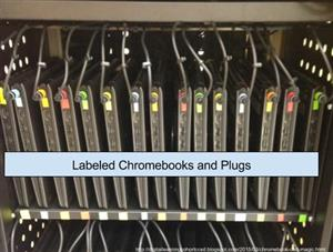 Labeled Chromebook Cart